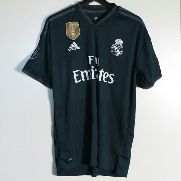 new concept a6327 8c358 New Real Madrid Black Kit Gareth Bale #11 Jersey NWT